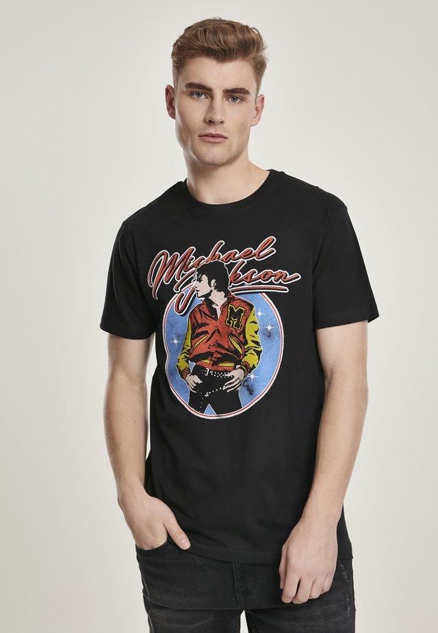 HERREN MICHAEL JACKSON CIRCLE TEE - T-shirt con stampa - black