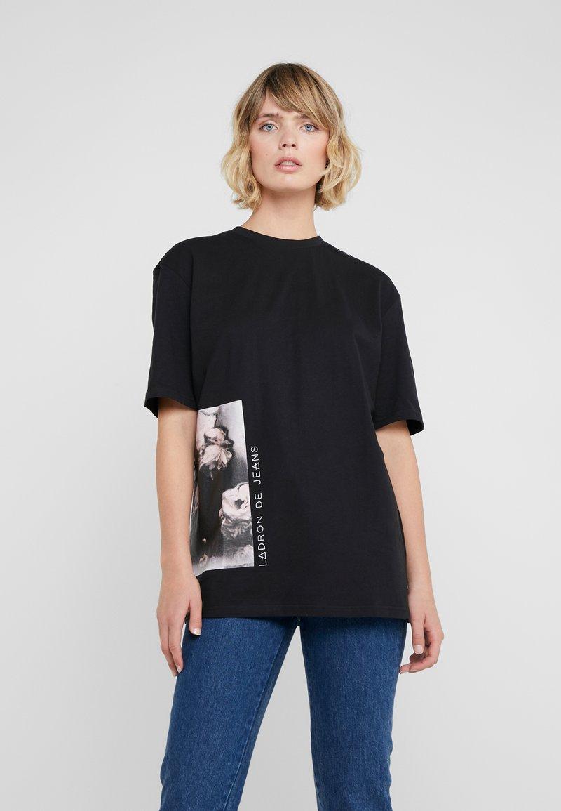 Bruuns Bazaar - LYNN ALBERTE  - Print T-shirt - black