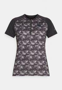 TEE HALF ZIP TRAZE - Cycling Jersey - black