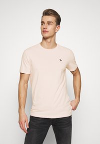 Abercrombie & Fitch - SEASONAL CREW  3 PACK - Camiseta básica - navy/blue/pink - 3