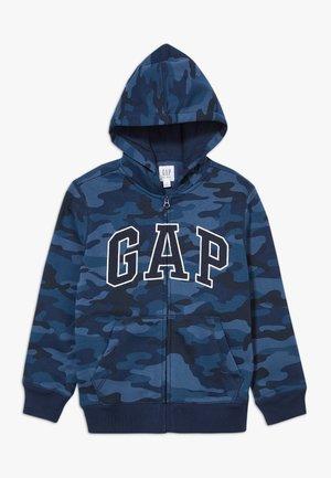 BOY V-GAP HOOD - Hoodie met rits - blue