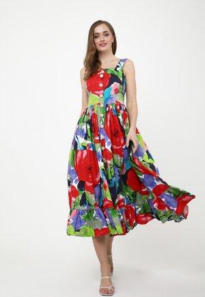 Day dress - rot blau
