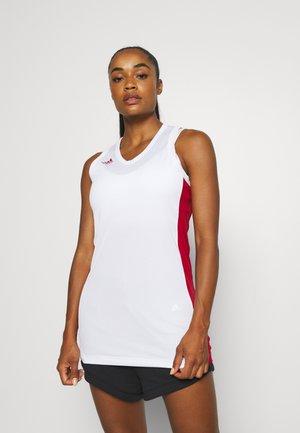 N3XT PREMIUM TEAM AEROREADY - Topper - white/team power red