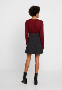 edc by Esprit - FLARED SKIRT - Mini skirt - black - 2