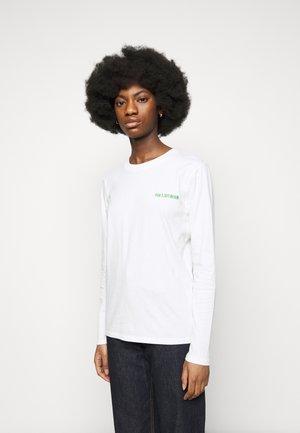 CASUAL LONG SLEEVE TEE - Long sleeved top - offwhite