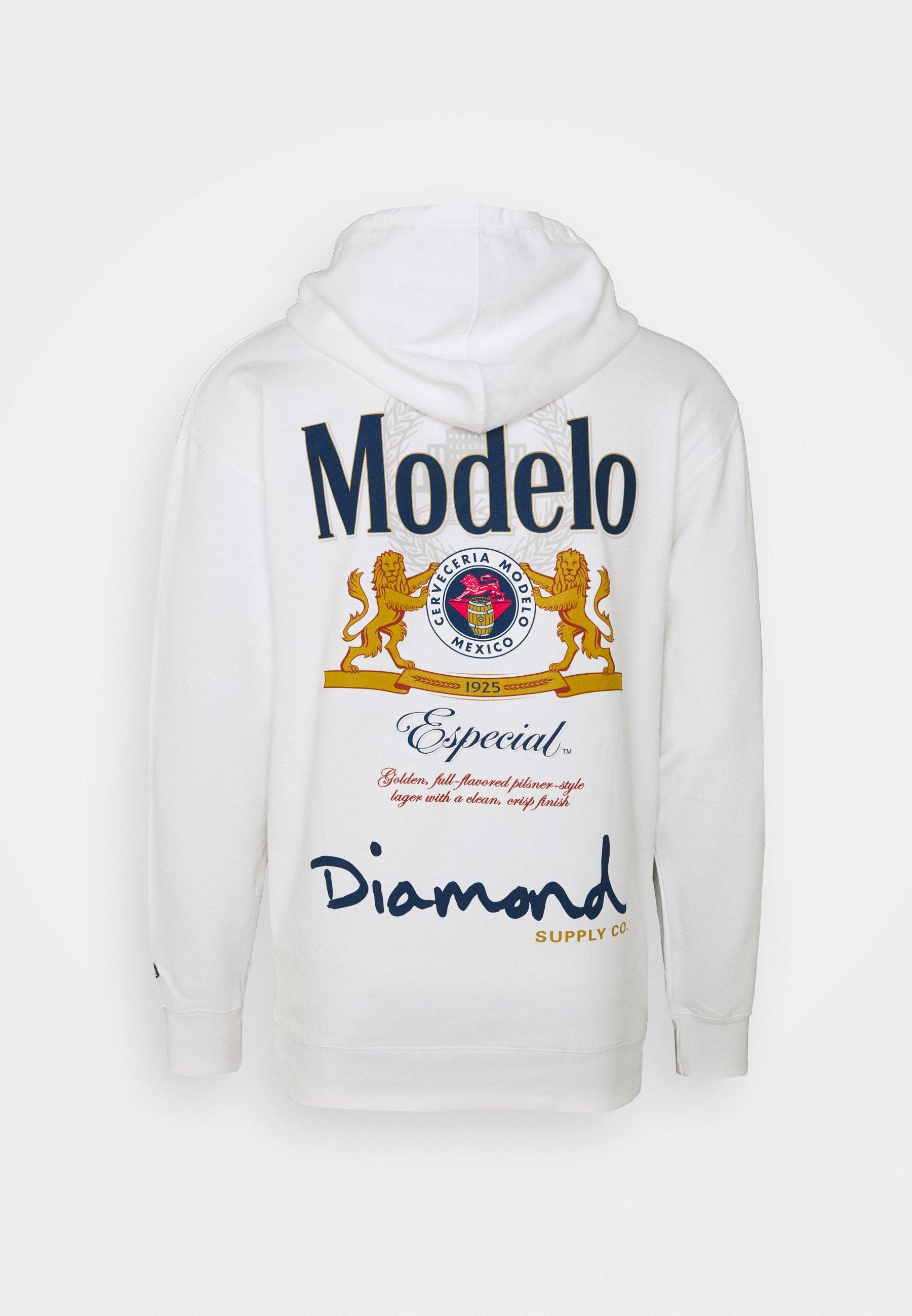 Diamond Supply Co. FIGHT HOODIE - Hoodie - white