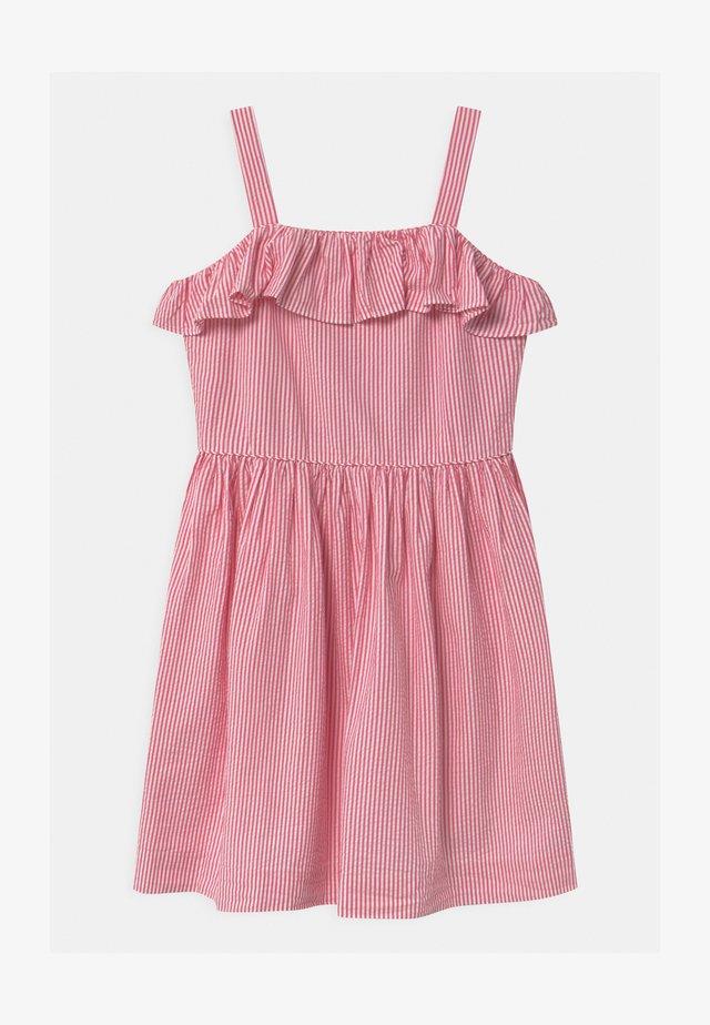 SEERSUCKER - Denní šaty - pink/white