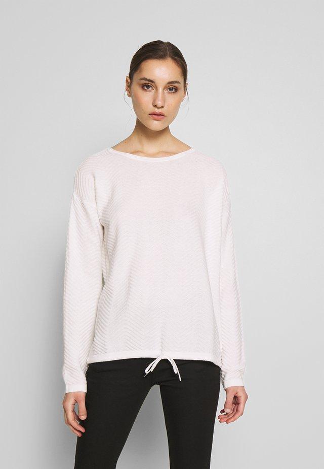 ZIGZAG STRAP - Sweter - whisper white