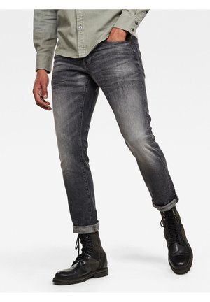 3301 STRAIGHT TAPERED - Jeans Tapered Fit - faded basalt