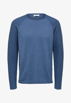Sweatshirt - dark blue melange