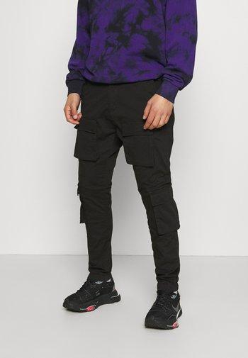 LYON PANTS UNISEX - Pantalon cargo - black