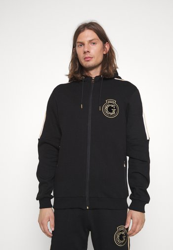 RAYLOW HOOD - Zip-up sweatshirt - jet black/gold