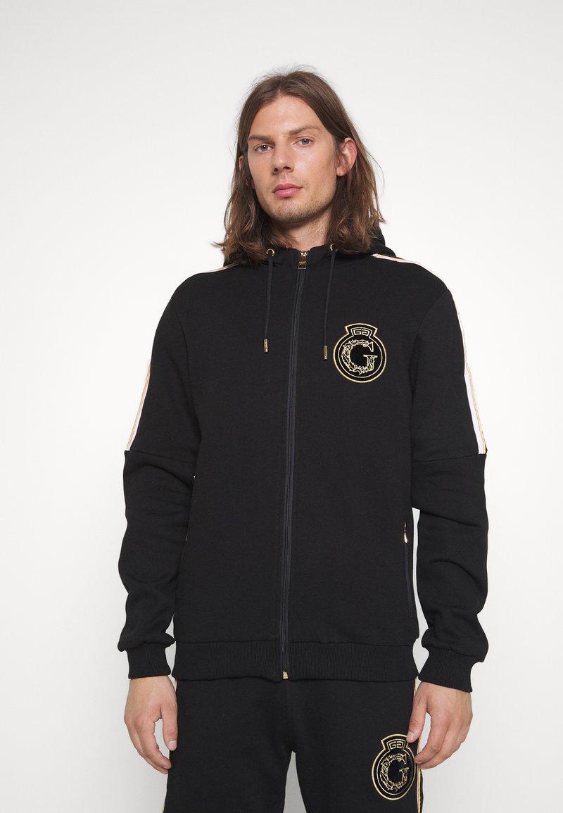 Glorious Gangsta - RAYLOW HOOD - Zip-up sweatshirt - jet black/gold