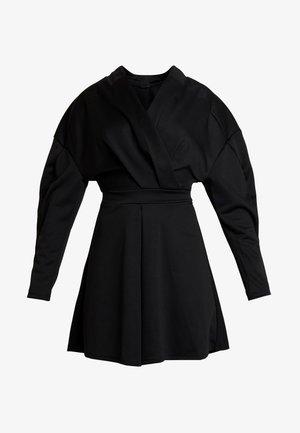 RELAXED SHOULDER DRESS - Day dress - black