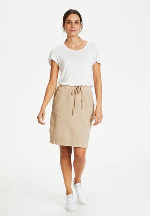 NAYA  - Pencil skirt - classic sand