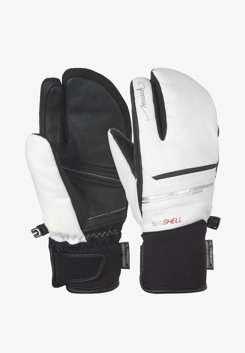 Reusch - TOMKE STORMBLOXX™ LOBSTER - Mittens - white / black