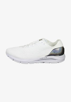 HOVR SONIC 3 - Neutral running shoes - white / metallic gun metal