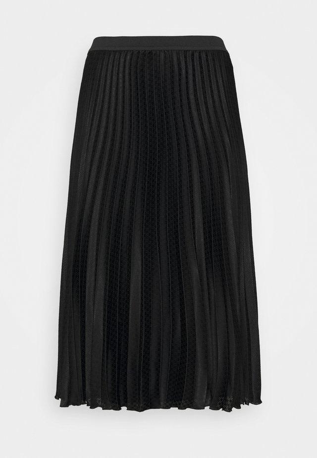CARDINE - Pleated skirt - black