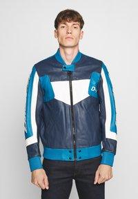 Diesel - L-MAY JACKET - Leather jacket - blue - 0