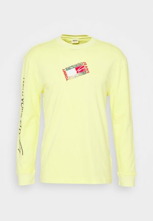 SMALL FLAG BOX LOGO TEE UNISEX - Long sleeved top - faded lime