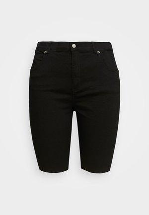 LEXY - Denim shorts - black