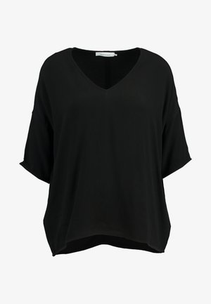 MAINS V NECK - Blouse - black