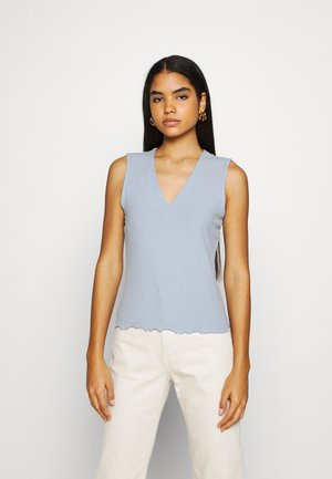 VMFRANCA V NECK - Top - blue fog