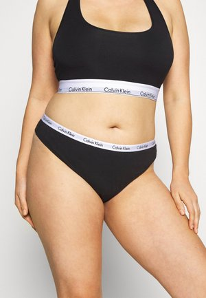 CAROUSEL PLUS SIZE THONG 3 PACK - Thong - black/white/grey heather