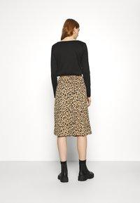 Vila - VILITIN BUTTON SKIRT - A-line skirt - ginger root - 2