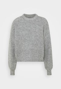 Even&Odd - Strikkegenser - mid grey melange - 3