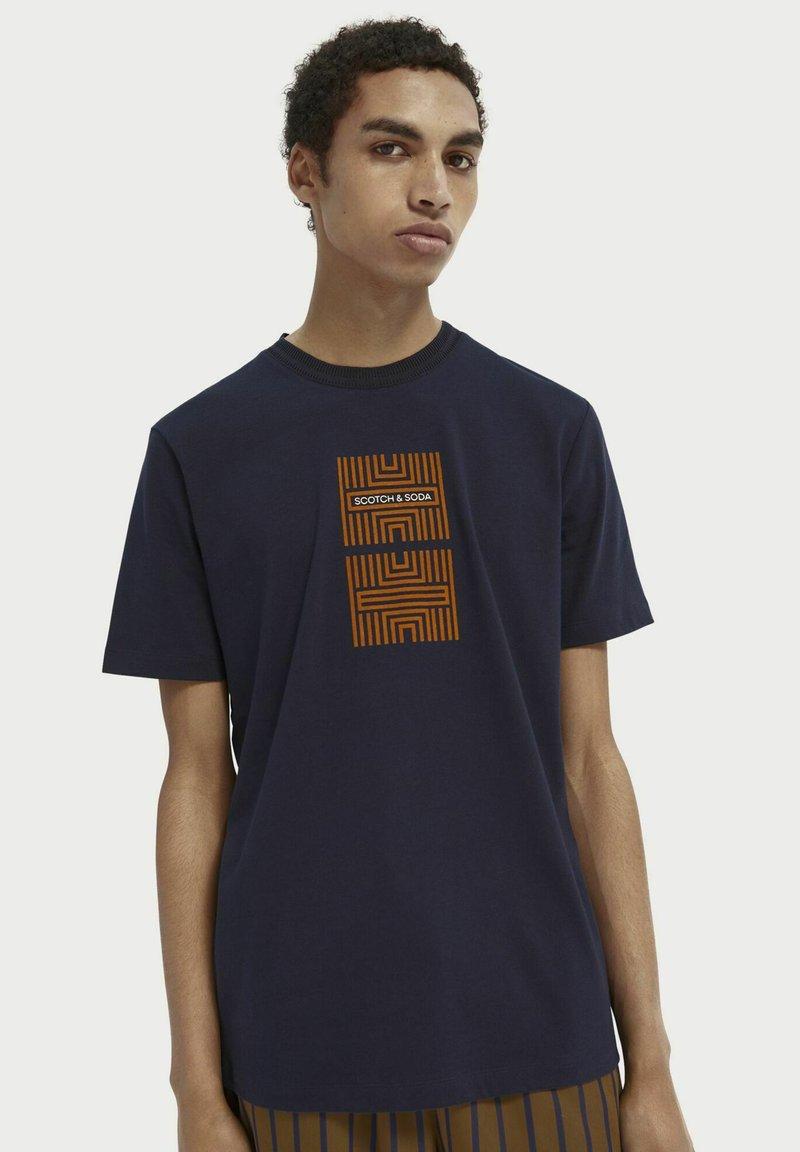 Scotch & Soda - Print T-shirt - midnight