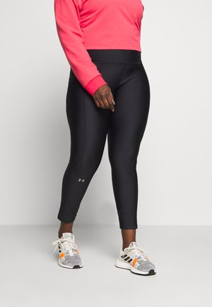 HI RISE LEGGINGS - Leggings - black/metallic silver
