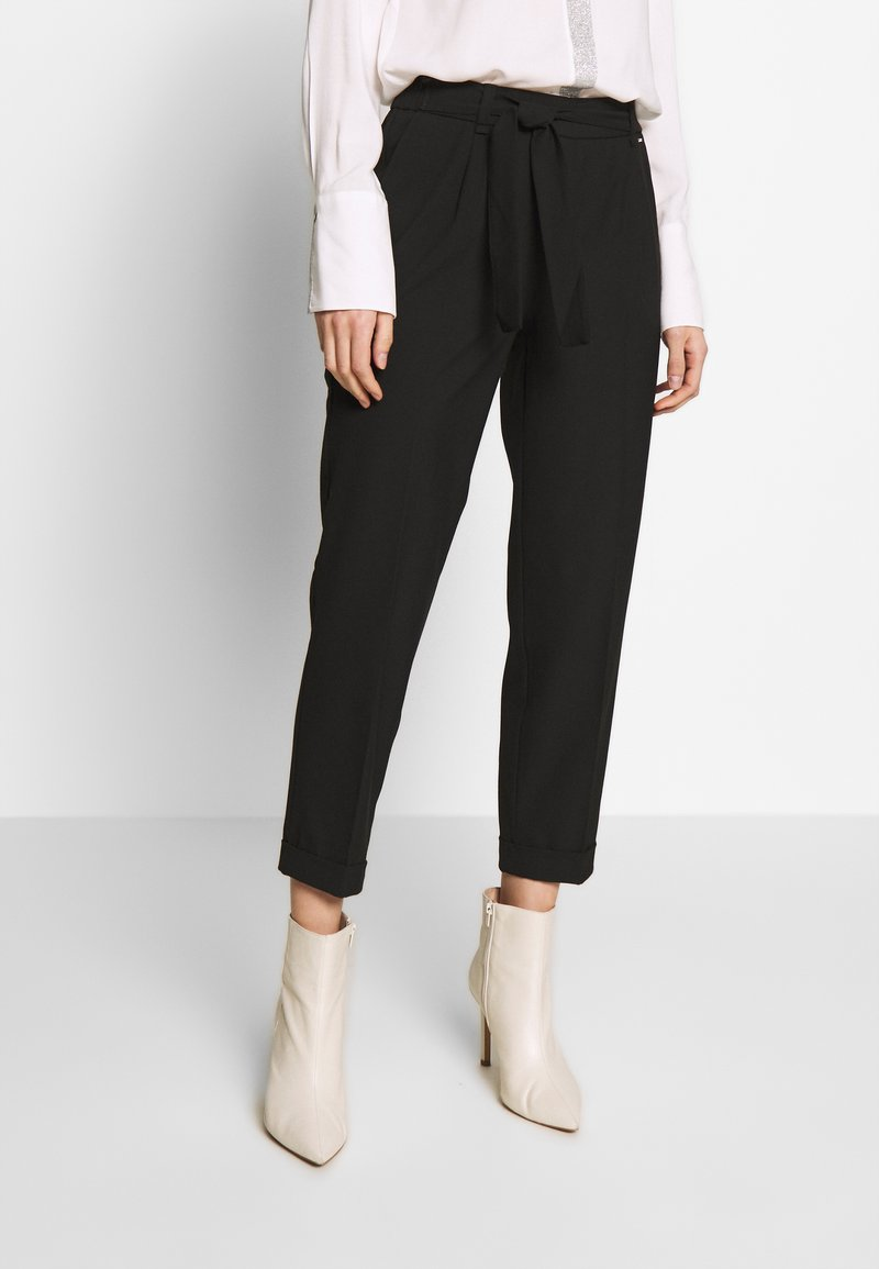 comma - TROUSERS - Trousers - black