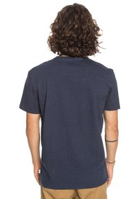 Quiksilver - BLAZING BACK  - Print T-shirt - navy blazer heather - 2