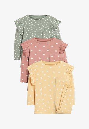 3 PACK SPOT/STAR/HEART RIB RUFFLE - Pyžamová sada - pink
