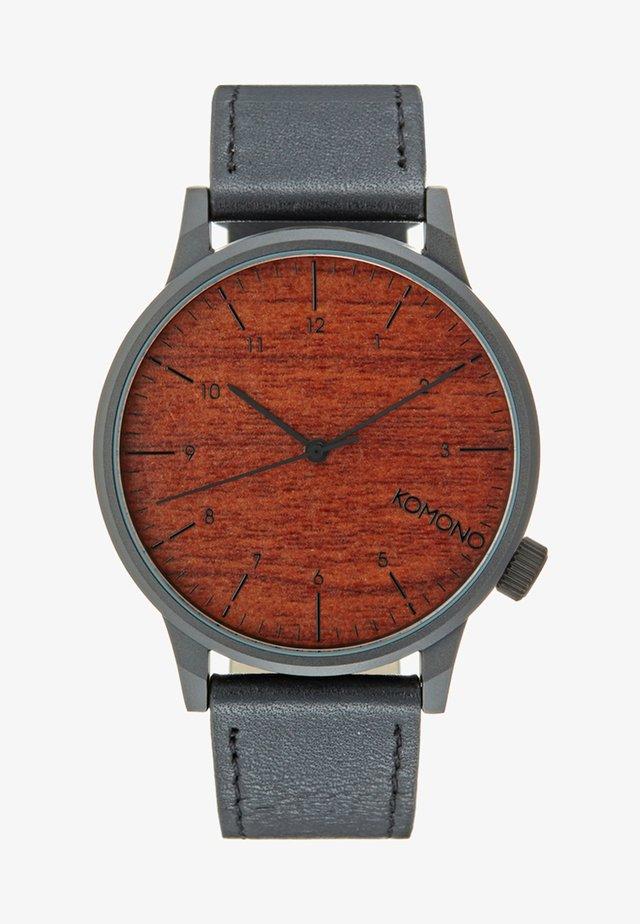 WINSTON - Klokke - black wood