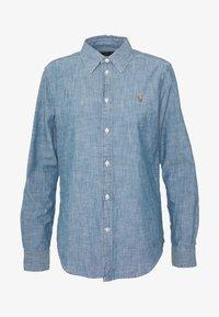 CHAMBRAY GEORGOA - Button-down blouse - indigo