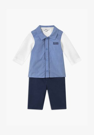 BABY SET - Broek - light blue/white