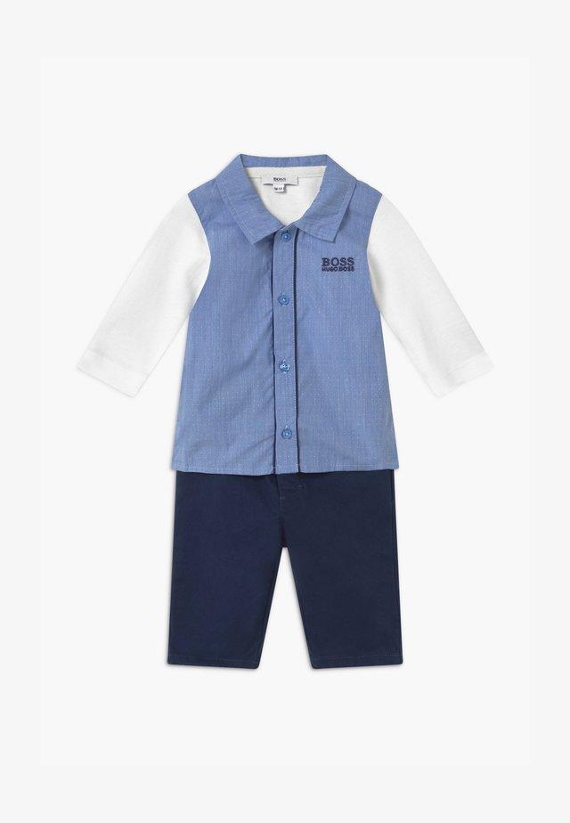 BABY SET - Kalhoty - light blue/white