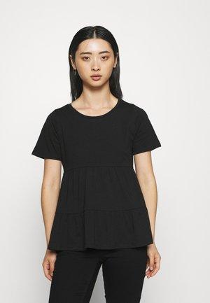 ONLAYCA PEPLUM - Jednoduché triko - black