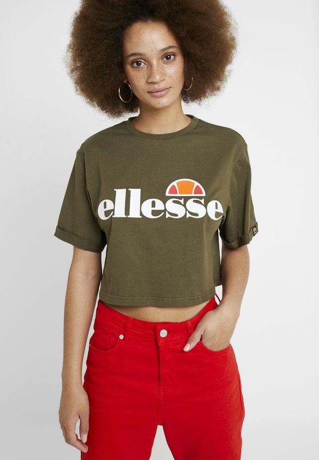 ALBERTA CROP  - T-shirt z nadrukiem - khaki