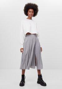 Bershka - A-line skirt - light grey - 1