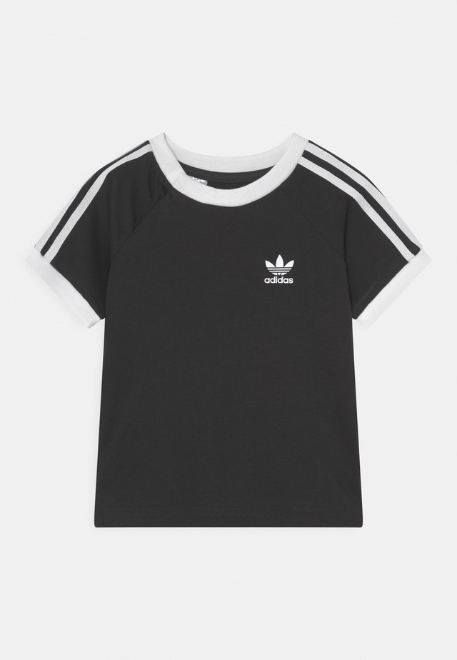 3 STRIPES TEE UNISEX - Print T-shirt - black/white