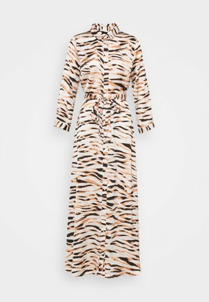 PCRYJA TIE DRESS - Shirt dress - burnt ochre