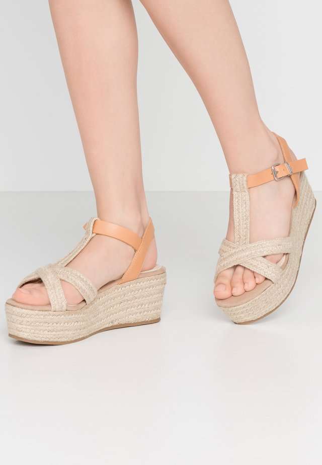 NEW SOCOTRA - Espadrillos - sand/sea natural