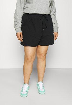 AIR PLUS - Shorts - black/white