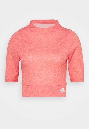 VYRTUE CROP - T-shirt z nadrukiem - horizon red heather