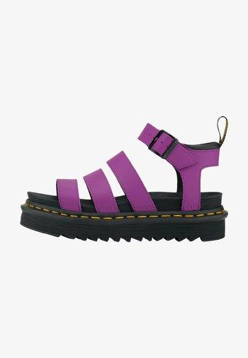 Sandals - dunkellila