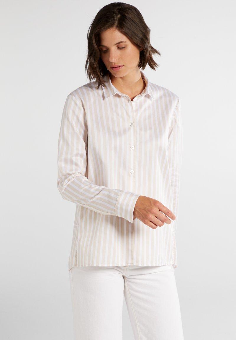 Eterna - Button-down blouse - beige/weiß