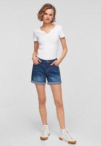 Q/S designed by - Denim shorts - blue - 1